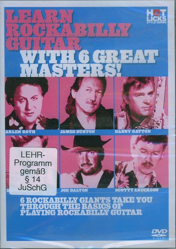 DVD Learn Rockabilly Guitar with 6 Great Masters